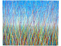 LARGE ABSTRACT NEW LANDSCAPE GRASS MEADOW MODERN ART PAINTING ON 1 METRE BOX CANVAS | Free Delivery