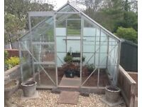 Greenhouse, 8ft X 6ft, fully glazed, sliding door