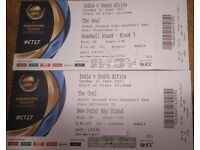 ICC Champions trophy India vs South Africa - 2 tickets