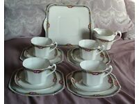 Vintage Heathcote China 14 Piece Part Tea Set in excellent condition