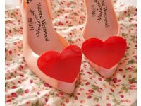 Vivienne Westwood Anglomania Pink Heels w Red Heart Melissa Lady Dragon UK6 EU39 US 8