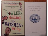Books - Geoff Tibballs - The Bowler Holding the Batsman's Willey & Ben Schott - Sporting Games