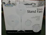 "16"" STAND FAN NEW IN BOX / 3 SPEED"