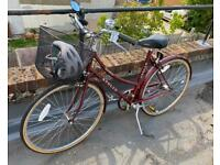 Beautiful vintage Apollo County bike with basket and accessories