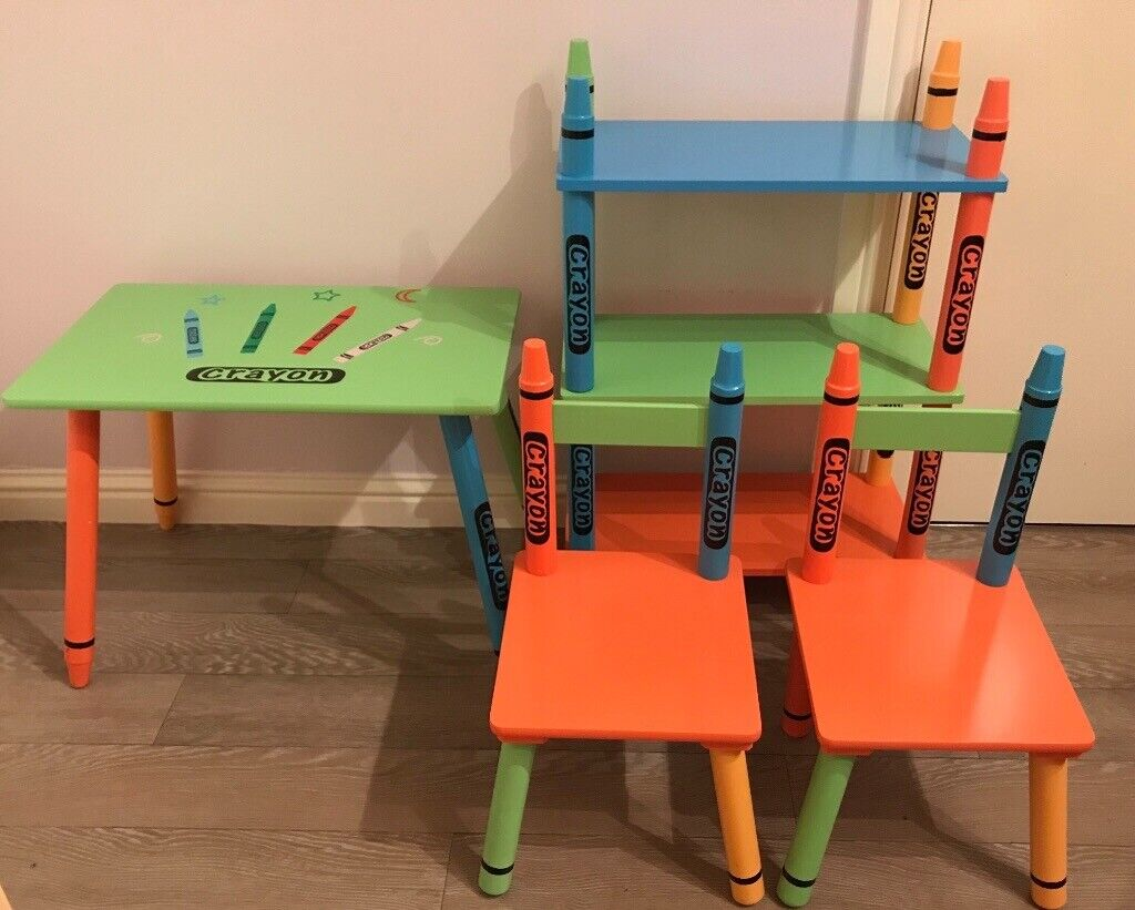 Superb Kids Crayon Table Chairs And Shelves In Dundee Gumtree Ocoug Best Dining Table And Chair Ideas Images Ocougorg