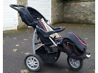 3 Wheel Urban Buggie with snood, pump and 2 spare wheel tubes
