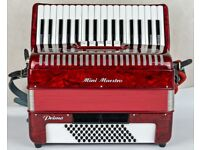 Italian 72 Bass Accordion with New Magnetic MIDI System