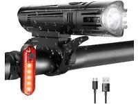 Bike Lights Set USB Rechargeable-Waterproof