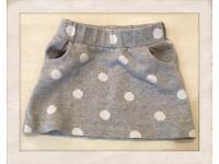 Grey mini skirt size 3years