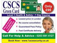 CSCS Green Card Labour Level 1 Health and Safety in Construction Course in London