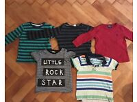 18-24 months boy clothes. 5 T-Shirts, 2 Onesies, 2 Cardies, 3 Trousers, 1 PJ's