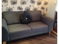 2 x 2 seater sofa settees. Charcoal grey