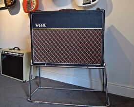 VOX AC 30 CHROME STAND AS USED BY HANK MARVIN , STONES HOLLIES , BEATLES , ETC