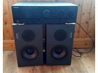 Alesis Monitor one speakers (pair) and Kenwood amp