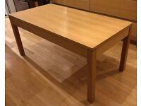 Wooden Solid Oak Coffee Table - 100cm x 50cm x 45cm