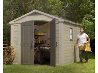 KETER Factor 8ft 5 x 11ft 2.6m x 3.3m SHED, CHEAPEST in UK !! Limited STOCK !!