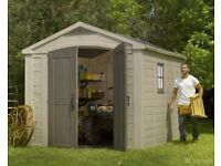 KETER Factor 8ft 5 x 11ft 2.6m x 3.3m SHED, CHEAPEST in UK !! Limited STOCK !! NEW !!