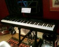 Yamaha CP-33 Stage Piano, stand, case, music stand