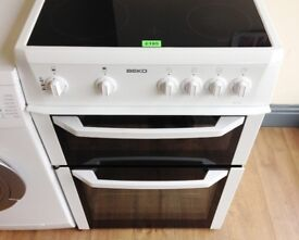 BEKO - White, 60cm, Ceramic, Fan Assisted ELECTRIC COOKER