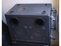 Trace Elliot 2102T 200W 2x10 wheeled cabinet, option of 4 or 8 Ohm