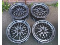 """19"""" 5x100 bbs LM style Alloy wheels Refurbished"""