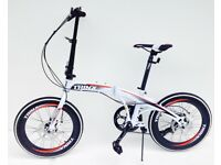 Trinx folding bike 20 inch wheels 7 speed shimano gears disc brakes carry bag *BRAND NEW*