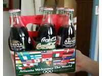 Olympic memorabilia authentic Atlantic 1996 Coca Cola six pack