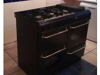 Belling Country Range Dual Fuel Cooker - black - 100cm wide