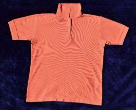 """Ladies Dark Peach Collar T-Shirt / Polo Top C38"""""""