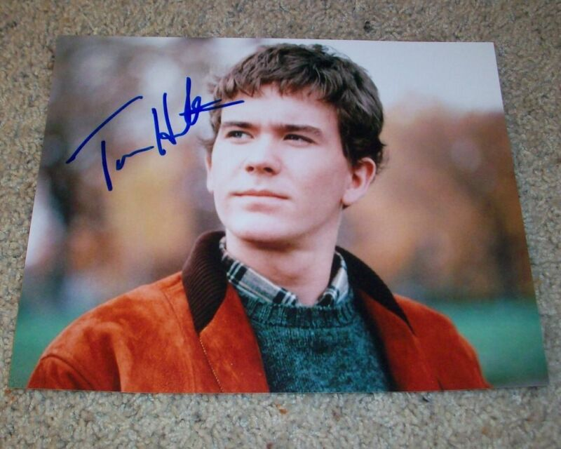 TIMOTHY HUTTON SIGNED OSCAR WINNER ORDINARY PEOPLE 8x10 PHOTO A LEVERAGE w/PROOF
