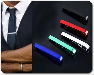 Herren Krawattenklammer Krawattennadel Clip Edelstahl Hochzeit 7 Farben 42 mm