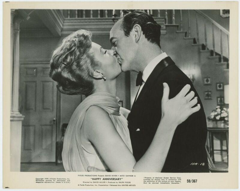 MITZI GAYNOR, DAVID NIVEN original movie photo 1959 HAPPY ANNIVERSARY