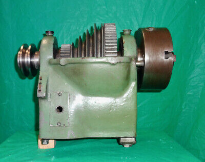 Atlas Craftsman 12 Lathe Headstock Assembly Offered With 5 Chuck 3 Pulley