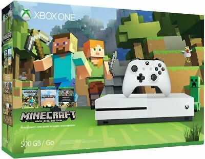 Microsoft Xbox One S 500GB Minecraft Console 4K UHD Game System Bundle XB1S
