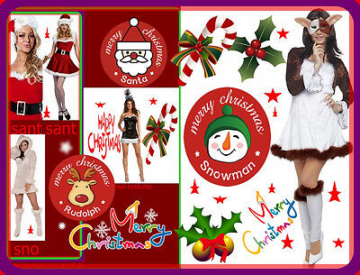 LIVERPOOL LUV christmas womans costumes santa& new years&snow - Gizmo Kostüme