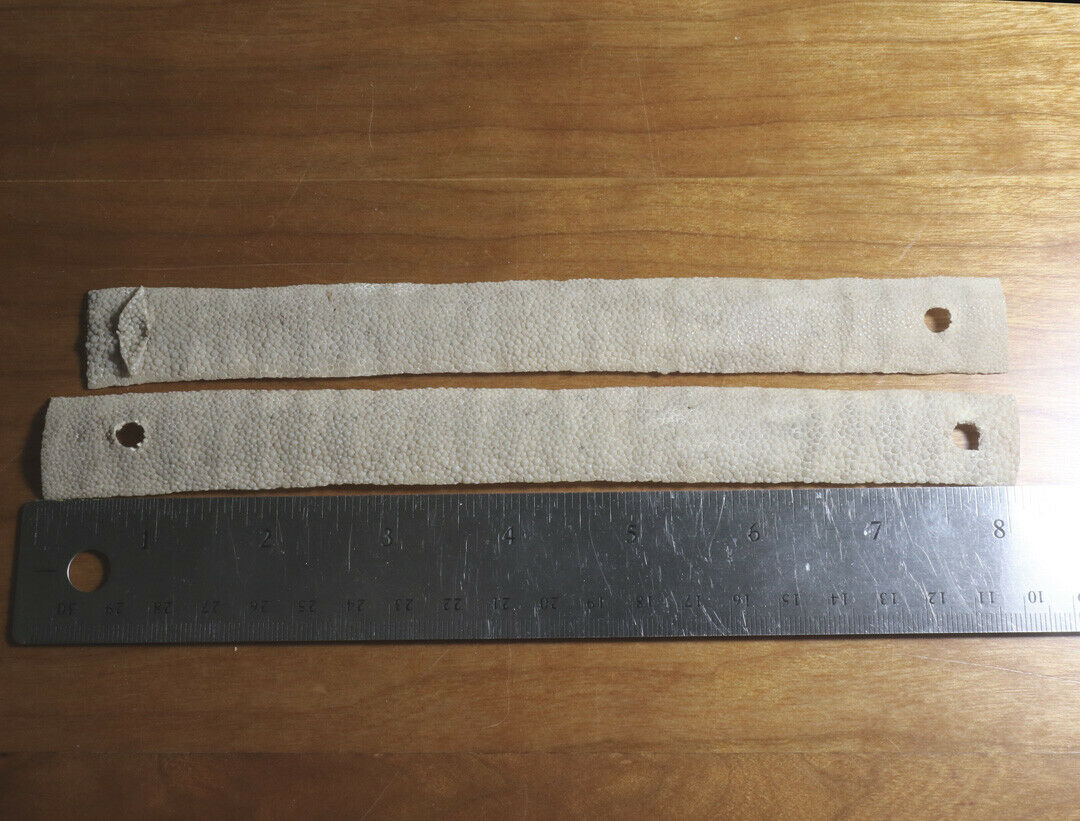 Antique Japanese Edo Period Samurai Sword Samegawa Panels 2 Sets - $26.88