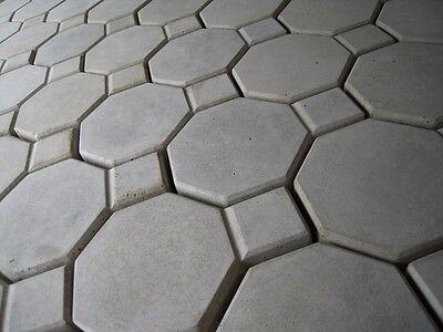 lot of 6 interlocking Octagon Concrete paver molds. patio,walkway,garden path