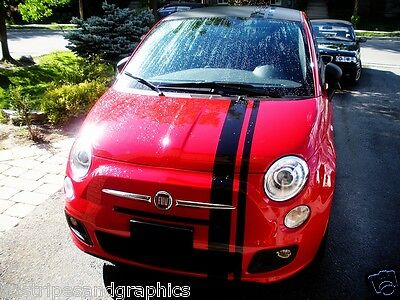 """8"""" OFFSET Rally stripes Stripe Graphics Decal decals FIT all Year Fiat 500 500L"""