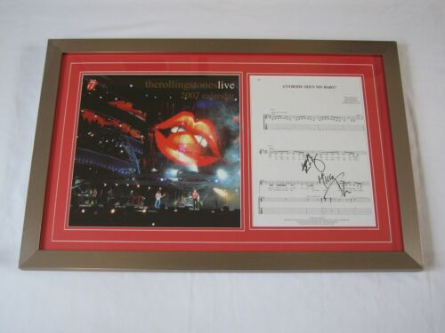 Wonderful Original Hand Signed Rolling Stones Autograph Collection 2007