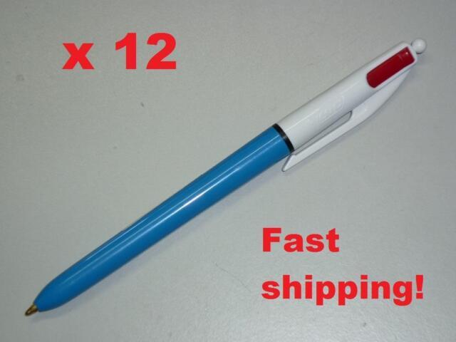 x12 Bic 2 colour pens 2colours in 1 pens Retractable ball pen Medium 803010