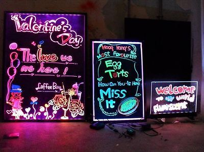32x24 Led Menu Dry Erase Message Writing Board Sign Pens Illuminated Lighted