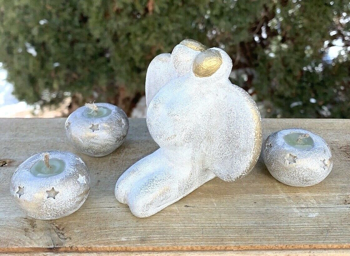 Angel Clay Art Sculpture Soulmates Heart Of Love Angels Artist Paul Stoury  - $52.50
