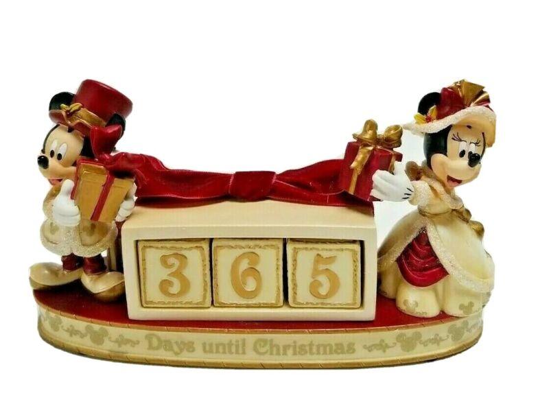 Disney Parks Mickey & Minnie Victorian Christmas Countdown Calendar Figurine