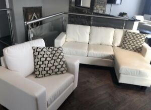 REVERSIBLE SECTIONAL AND CHAIR (BRAND NEW)