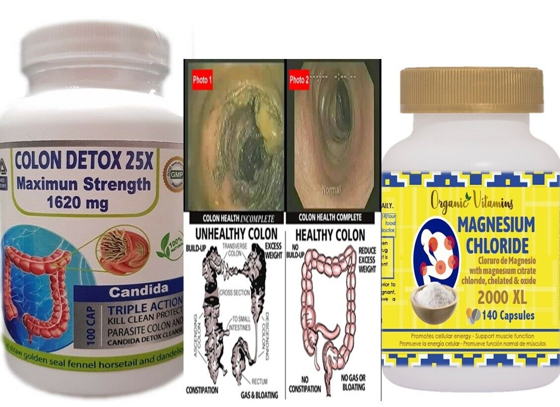 Pastillas Para Limpiar Colon Detox baja de peso 14 dias de limpieza rapida KIT