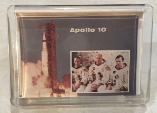APOLLO 10 IBM SUB CONTRACTOR ISSUED RARE PROMOTIONAL PAPERWEIGHT / STAND