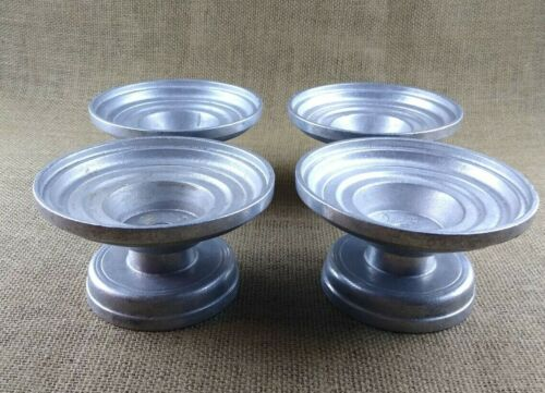 Set Of 4 Vintage Wilton Armetale Candlestick Pillar Taper Candle Holders RWP