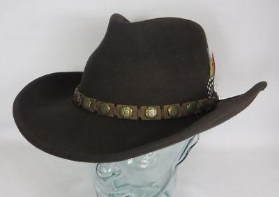 stern Hut Cowboyhut Wollfilz braun Cowboy Hat 3598102 NEU (Braun Filz Cowboy-hut)