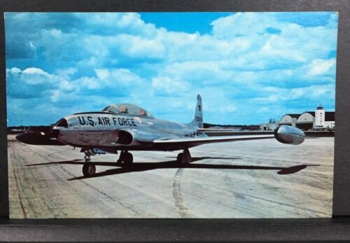 Lockheed T-33A Shooting Star T-Bird American Jet Aircraft Vintage Postcard