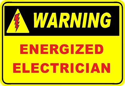 Warning Energized Electrician Hard Hat Sticker Ce-26